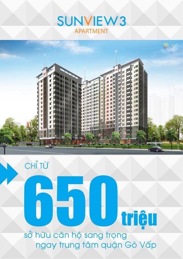 Sunview 3 ngôi nhà hoàn mỹ cho mọi người chỉ 650trcăn