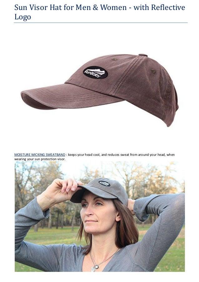 c0a378f2668 Sun Visor Hat for Men   Women - with Reflective Logo MOISTURE WICKING  SWEATBAND   keeps