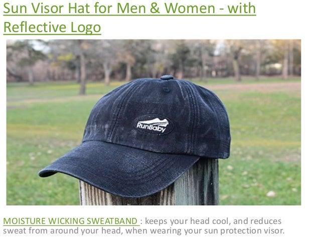 60779c142b2 Sun visor hat for men  amp  women with reflective logo