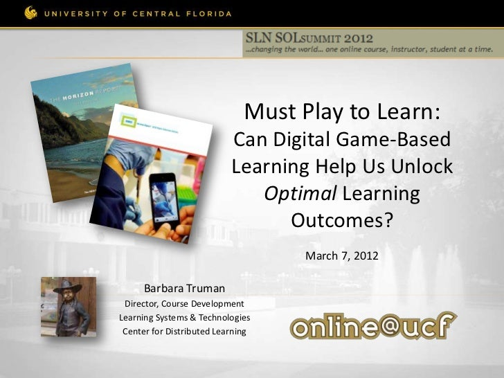 Must Play to Learn:                           Can Digital Game-Based                           Learning Help Us Unlock    ...