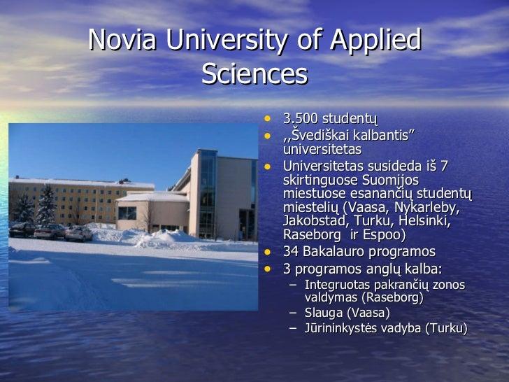 SUOMIJA - Novia University of Applied Sciences