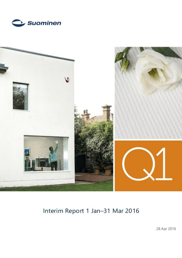 - 28 Apr 2016 Interim Report 1 Jan–31 Mar 2016