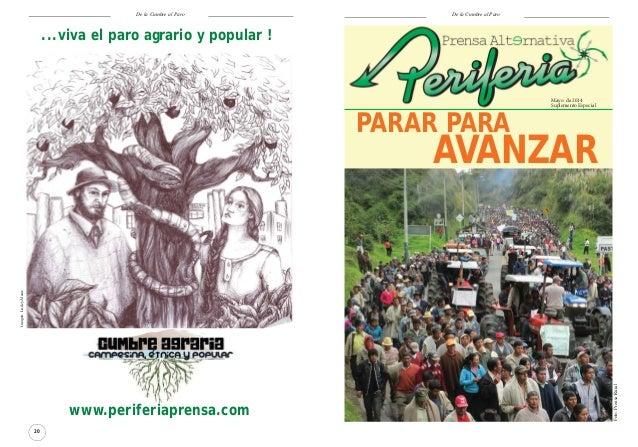 De la Cumbre al Paro 20 www.periferiaprensa.com Imagen:LisdeyAlzate ...viva el paro agrario y popular ! 1 De la Cumbre al ...