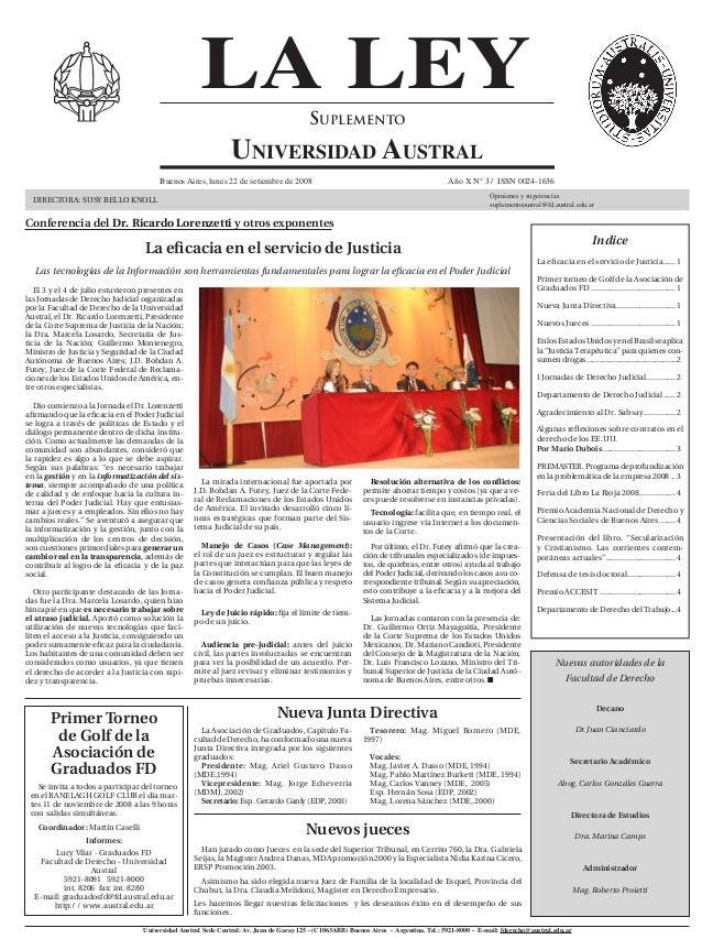 LA LEY                              Suplemento                                                                Universidad ...