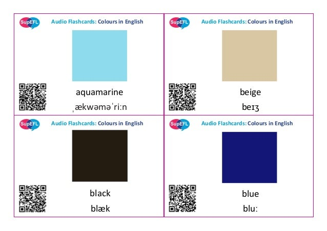Audio Flashcards: Colours in English Audio Flashcards: Colours in English Audio Flashcards: Colours in English Audio Flash...