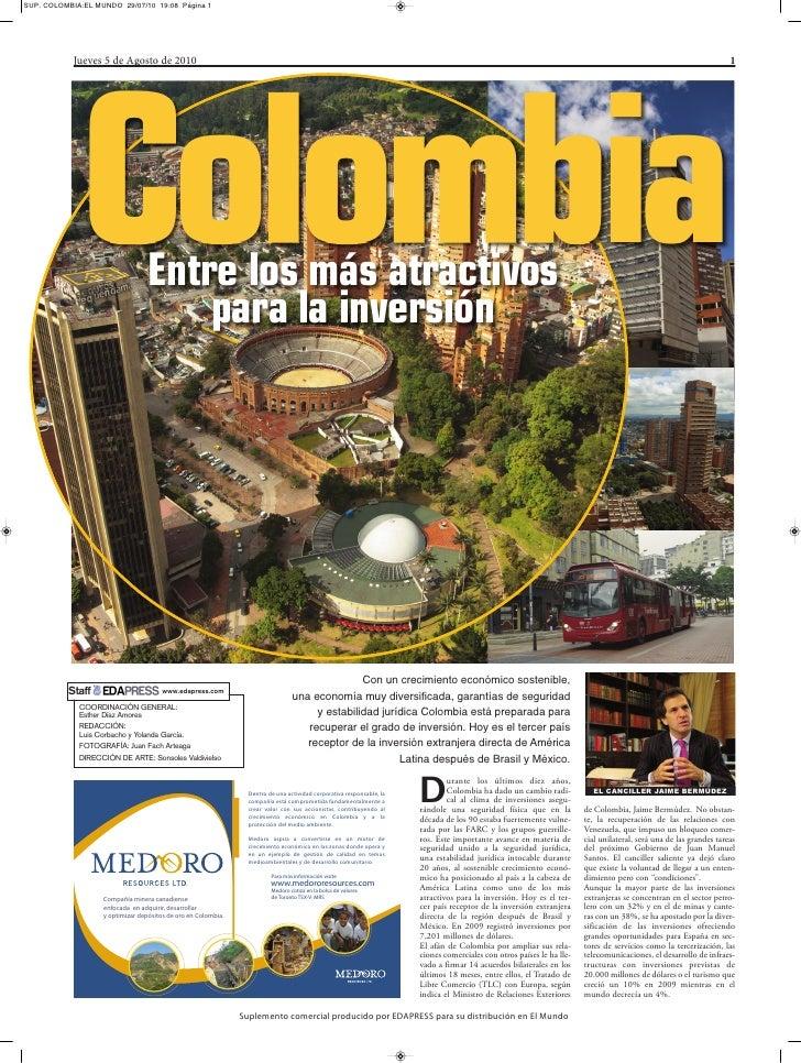 SUP. COLOMBIA:EL MUNDO 29/07/10 19:08 Página 1                 Jueves 5 de Agosto de 2010                                 ...