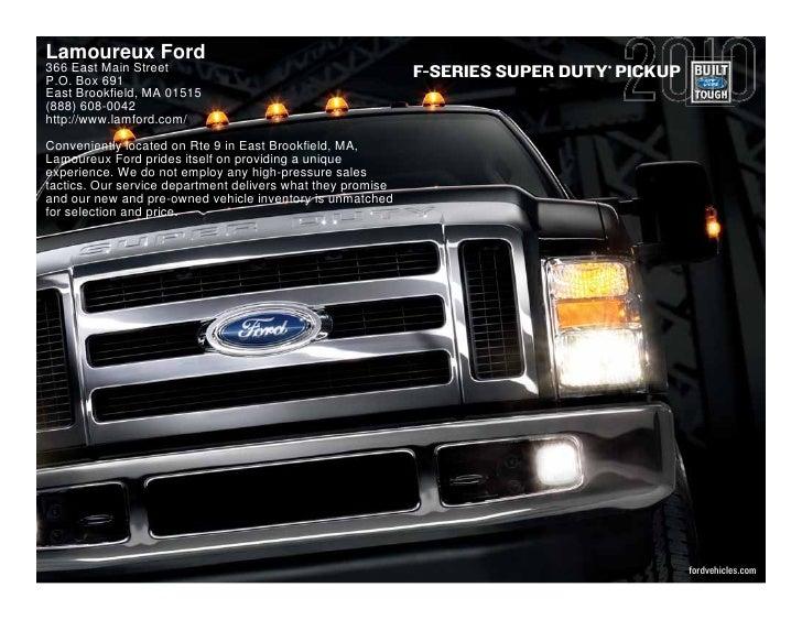 Lamoureux Ford 366 East Main Street                                                           ®                           ...