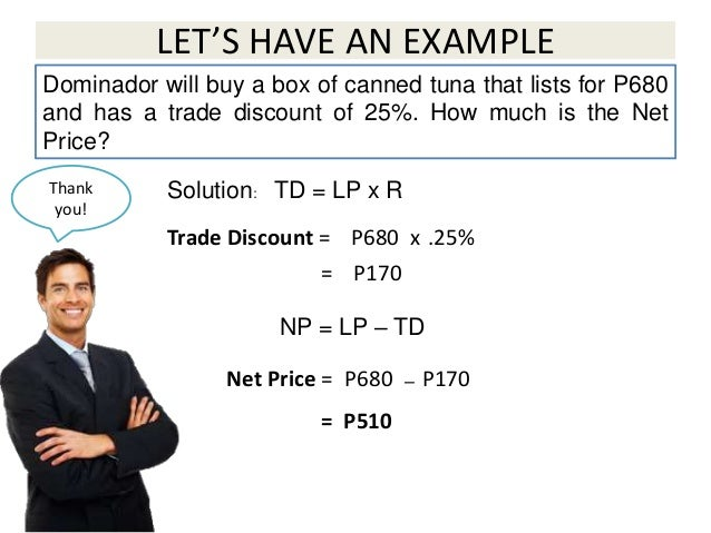 Cash Discount and Trade Discount