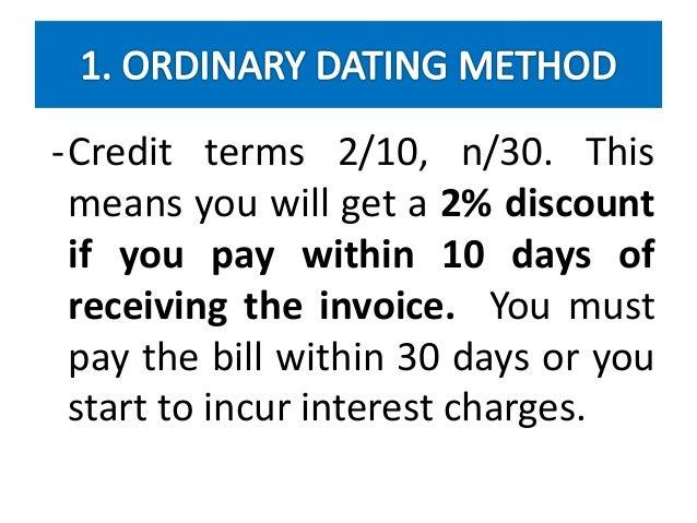 Ordinary dating method calculator