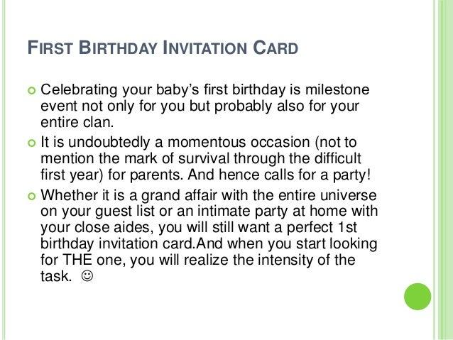 Super Fun Ideas For First Birthday Invitation Card