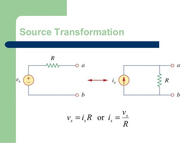 Source Transformation  vs vs = is R or is = R