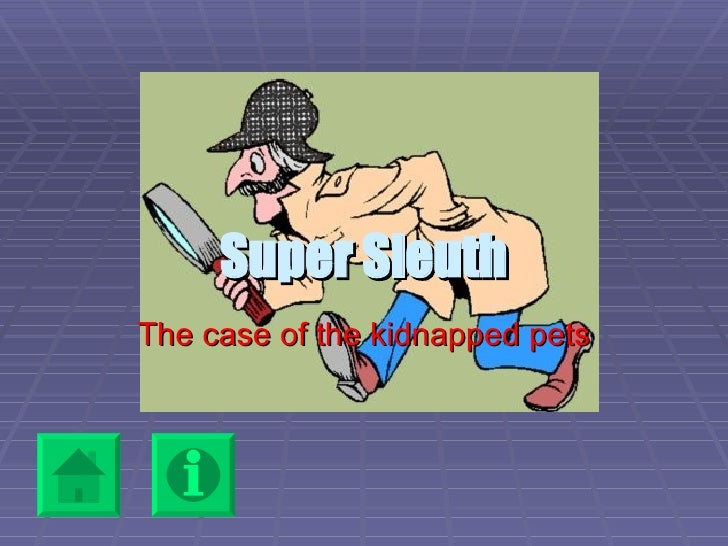 Super Sleuth The case of the kidnapped pets