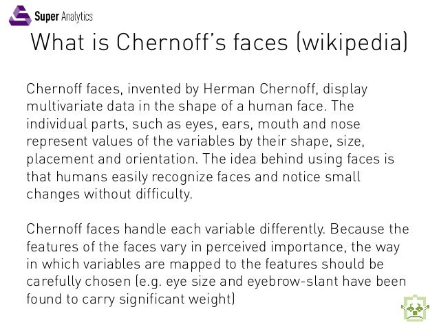 Reporting KPI's with Chernoff Faces by Super Analytics Slide 3