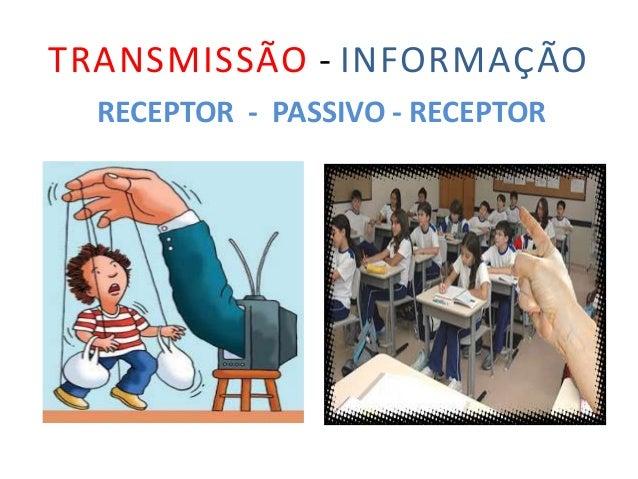 TRANSMISSÃO - INFORMAÇÃO RECEPTOR - PASSIVO - RECEPTOR