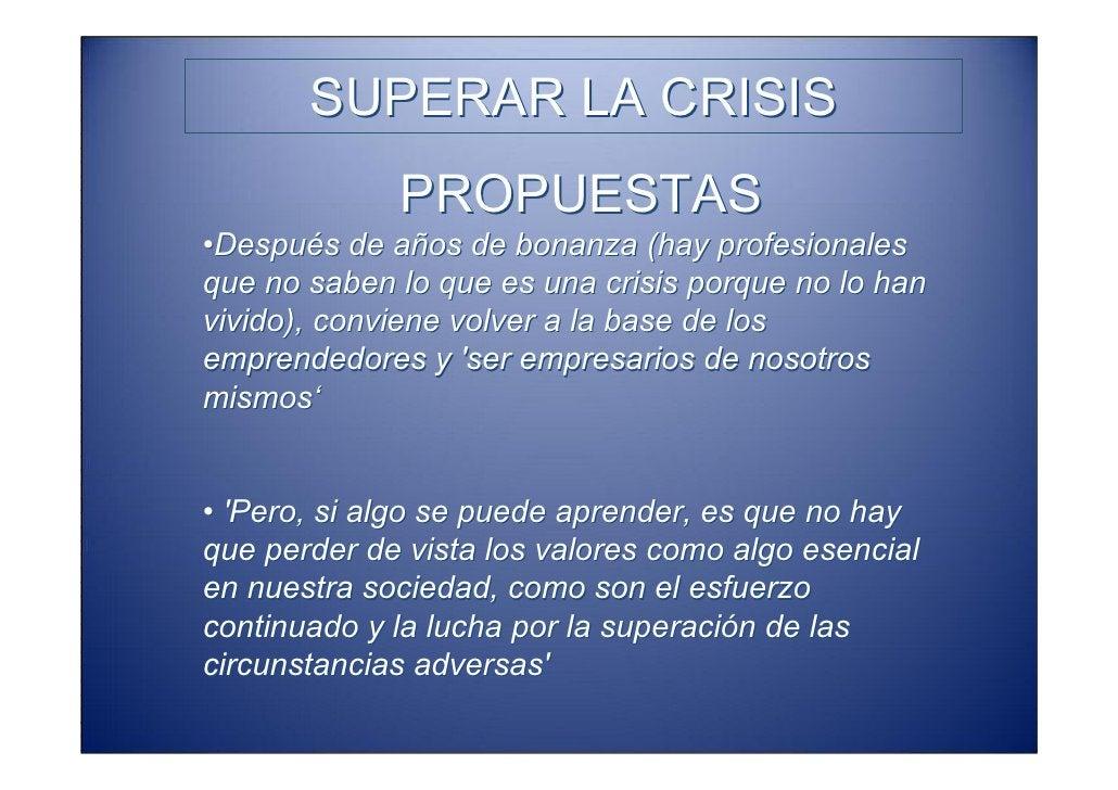SUPERAR LA CRISIS   Business Twinning