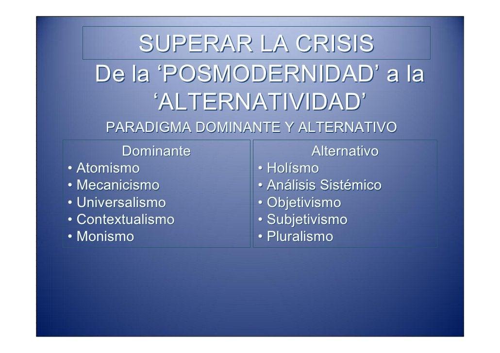SUPERAR LA CRISIS Sistemas Adaptativos Complejos            (CAS)