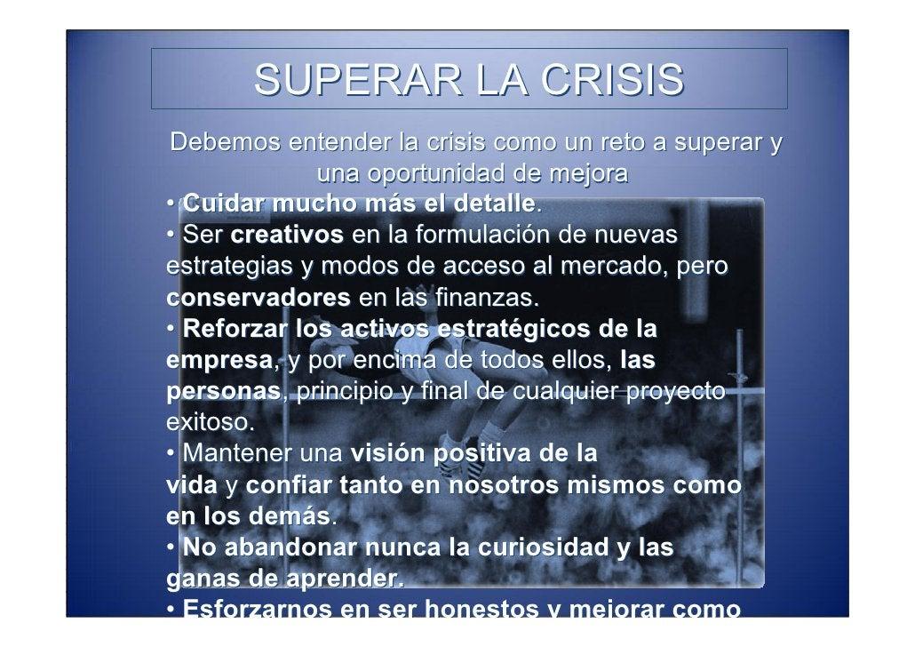 SUPERAR LA CRISIS   REINGENIERIA