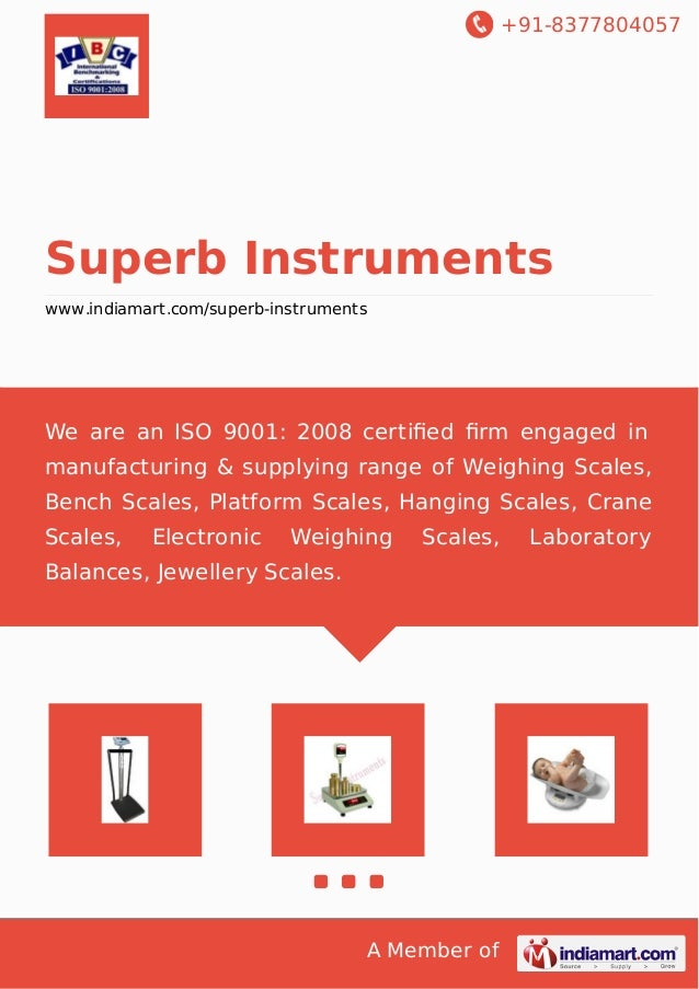 +91-8377804057 A Member of Superb Instruments www.indiamart.com/superb-instruments We are an ISO 9001: 2008 certified firm e...