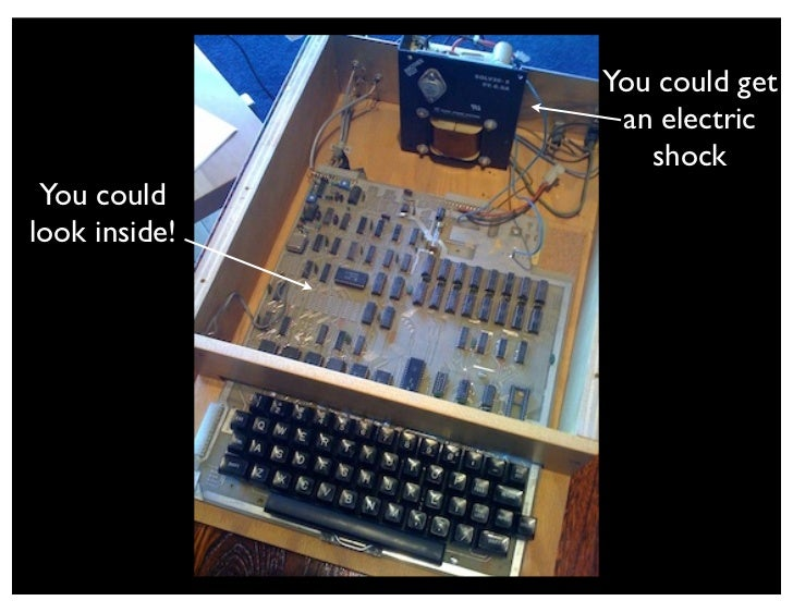 Pure Awesome!            You could hack!                   Note the                encouragement