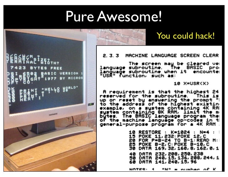 Question• What do you do with an old Superboard II   • 1 Mhz 6502 CPU   • 8K RAM   • 8K Microsoft Basic (vers. 1.0)   • 30...