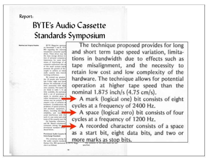 KCS Audio Encoding            0=                   1= (4 cycles @ 1200 Hz)           (8 cycles @ 2400 Hz)                 ...