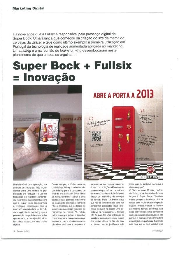 SUPER BOCK + FULLSIX = INOVAÇÃO