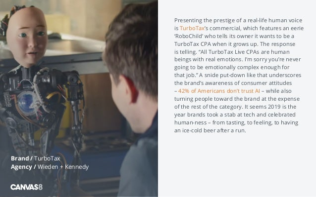 Presenting the prestige of a real-life human voice is TurboTax's commercial, which features an eerie 'RoboChild' who tells...