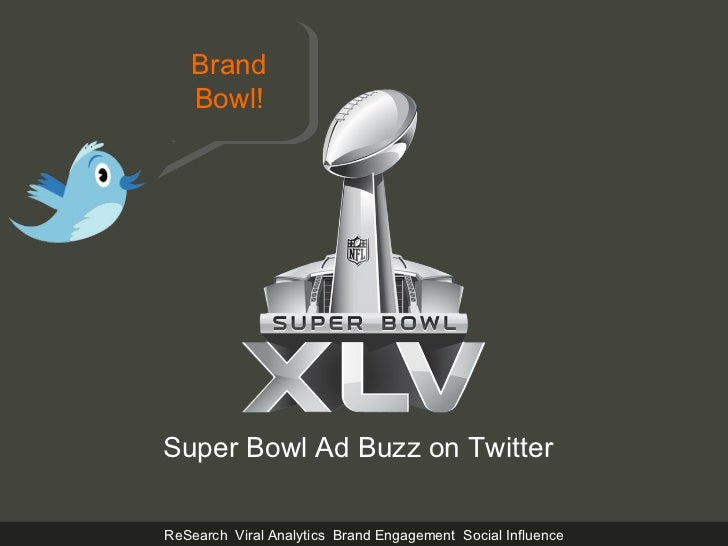 Super Bowl Ad Buzz on Twitter Brand Bowl!