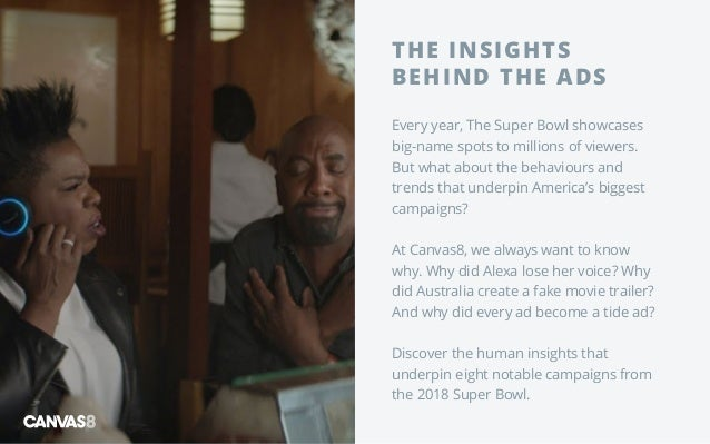 THE INSIGHTS BEHIND THE ADS Every year, The Super Bowl showcases big-name spots to millions of viewers. But what about the...