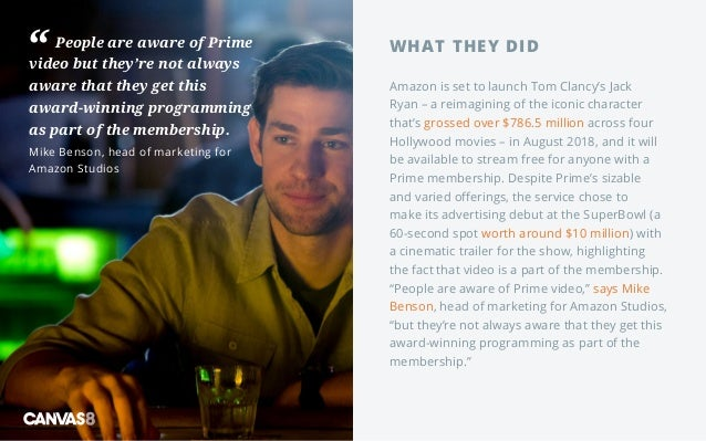 People are aware of Prime video but they're not always aware that they get this award-winning programming as part of the m...