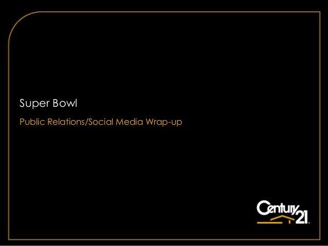 Super BowlPublic Relations/Social Media Wrap-up