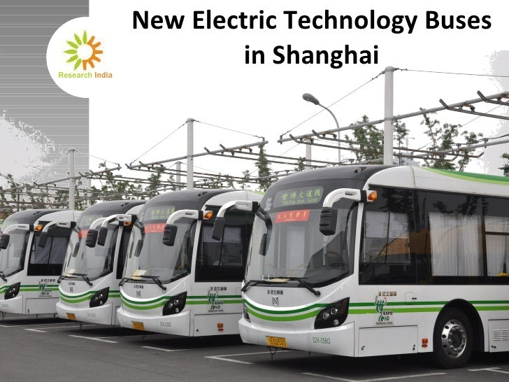 New Electric Technology Buses in Shanghai