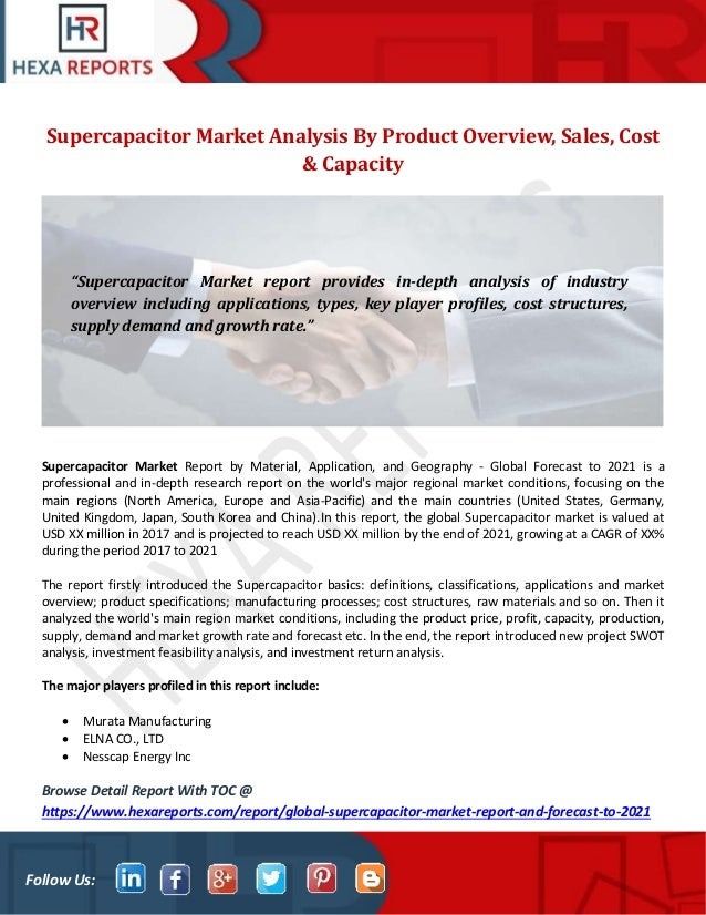 Supercapacitor market analysis by product overview, sales