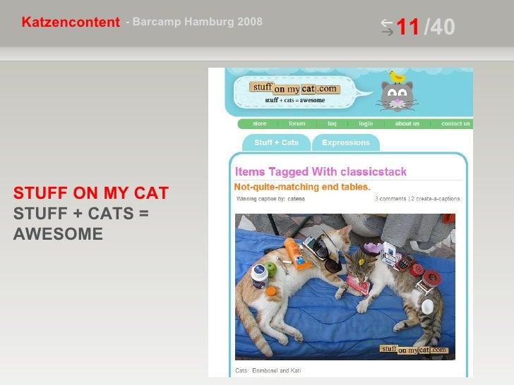 /40 STUFF ON MY CAT  STUFF + CATS =  AWESOME