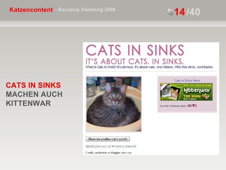 /40 CATS IN SINKS  MACHEN AUCH KITTENWAR