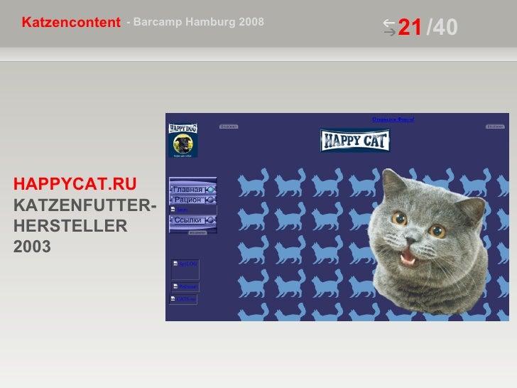 /40 HAPPYCAT.RU  KATZENFUTTER- HERSTELLER 2003