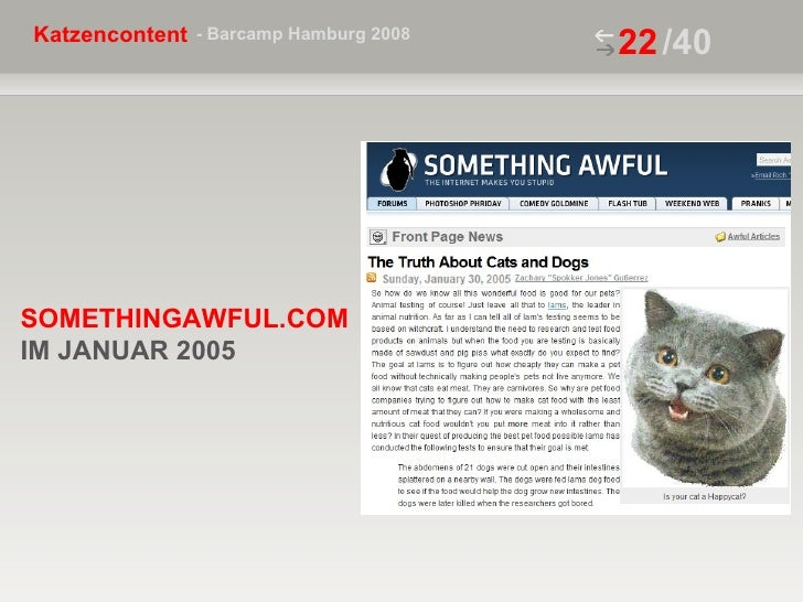 /40 SOMETHINGAWFUL.COM IM JANUAR 2005