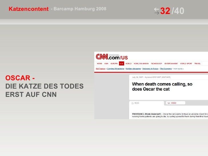 /40 OSCAR -  DIE KATZE DES TODES ERST AUF CNN