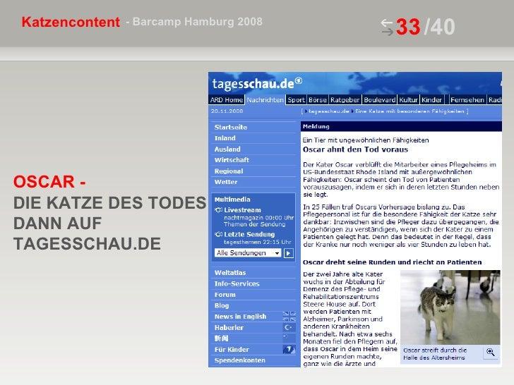 /40 OSCAR -  DIE KATZE DES TODES DANN AUF TAGESSCHAU.DE