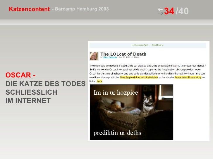/40 OSCAR -  DIE KATZE DES TODES SCHLIESSLICH IM INTERNET
