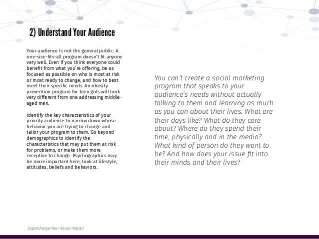 You can't create a social marketing program that speaks to your audience's needs without actually talking to them and lear...