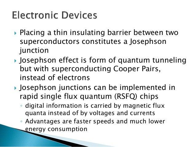 Bit Energy = power consumed per clock period x number of active devices  RSFQ: rapid single flux quantum, relies on quantu...