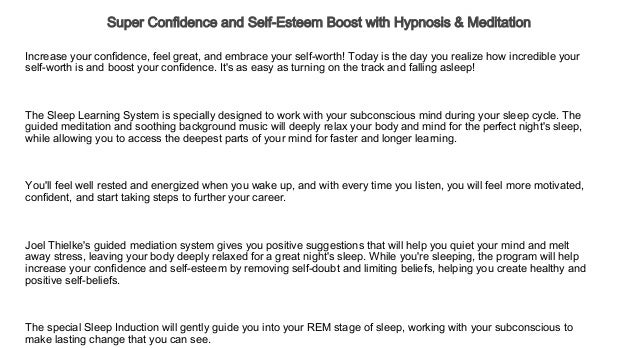 Super Confidence and Self-Esteem Boost with Hypnosis & Meditation L…