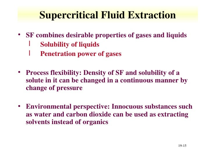 supercritical fluids sfcs supercritical fluid extraction First, supercritical fluids are a phase that fluids enter as a result of elevated pressure and temperature conditions that exceed a critical point unique to the fluid.