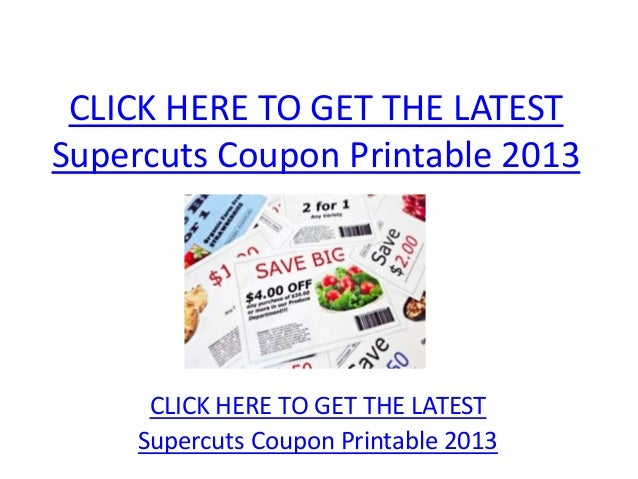 image about Supercut Printable Coupons known as Supercuts Coupon Printable 2013 - Supercuts Coupon Printable
