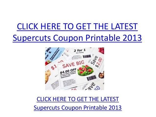 photograph relating to Supercuts Printable Coupons titled Supercuts Coupon Printable 2013 - Supercuts Coupon Printable