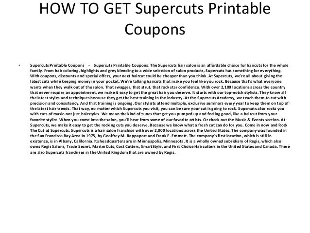 picture about Supercut Printable Coupons called Supercuts Printable Discount coupons - Supercuts Printable Discount coupons
