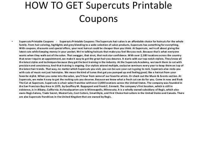 picture regarding Supercuts Printable Coupons named Supercuts Printable Coupon codes - Supercuts Printable Coupon codes