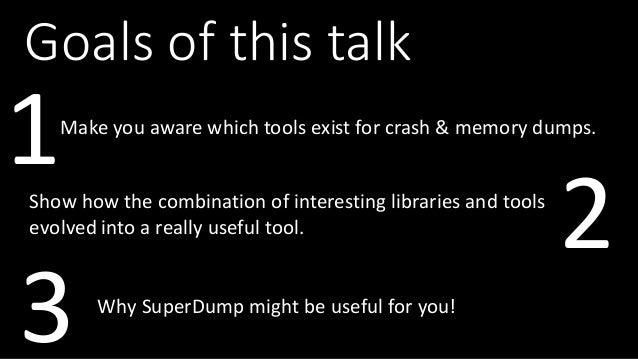 Large Scale Crash Dump Analysis with SuperDump Slide 2