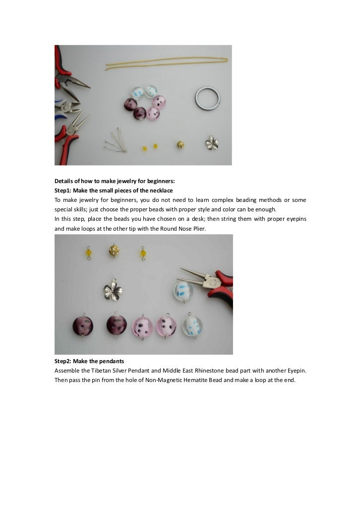 Super easy necklace making instructions about how to make for Net making instructions